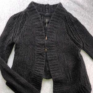 Isabel Benenato Cropped Alpaca Sweater